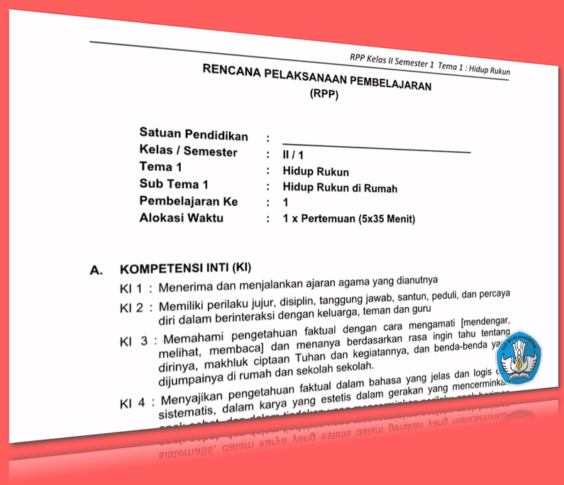 RPP SD KELAS 2 SEMESTER 1 TEMA HIDUP RUKUN LENGKAP DENGAN SUBTEMA UPDATE 2016 (247 HALAMAN)
