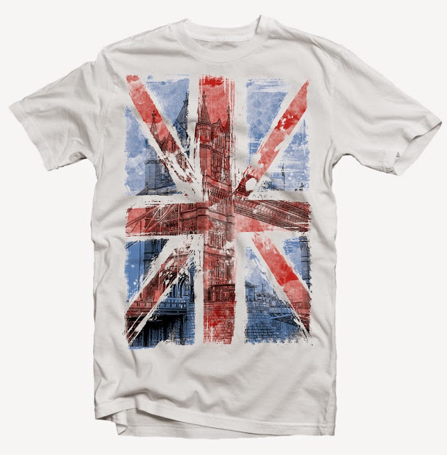 england flag tshirt design