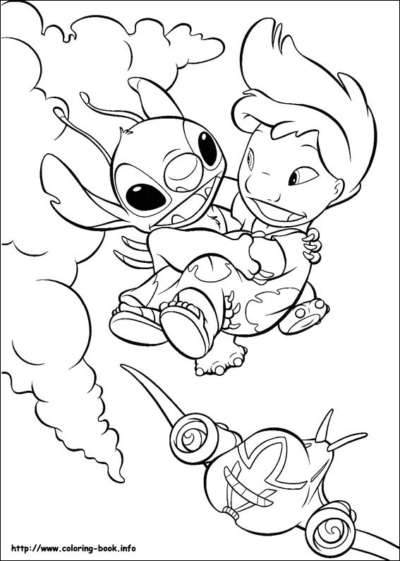 stitch the movie coloring pages - photo#22