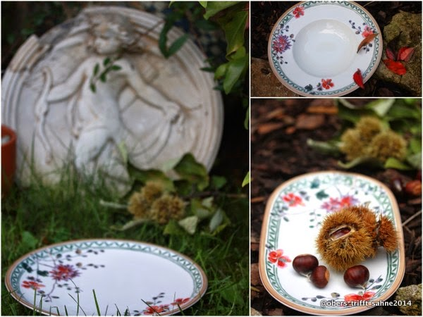 Herbstliches Menü auf Villeroy und Boch Artesano Provencal Verdure