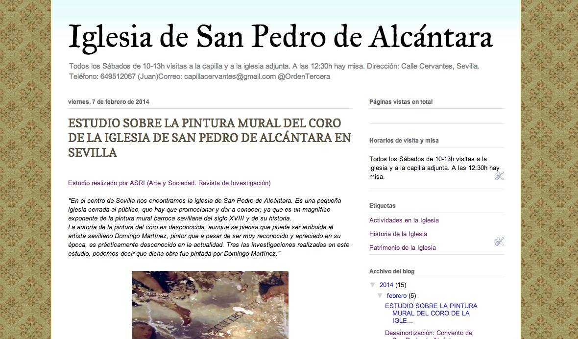 http://iglesiasanpedrodealcantara.blogspot.com.es/