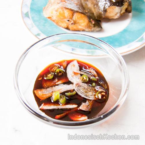 Scharfe Sojasoße Dip indonesisch kochen