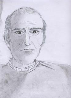 Οδ. Ελύτης, σκίτσο της μαθήτριας Δάφνης Μαλέα