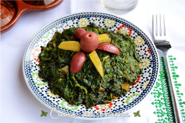 Espinacs a la marroquina