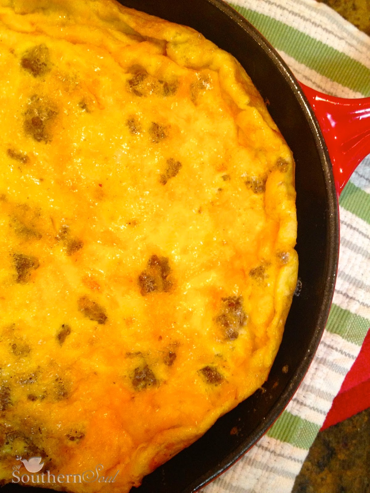 Frittata with Sausage and Cheese