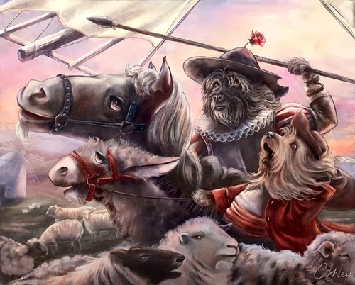02-Don-Quixote-Animals-From-History-Illustrator-&-Writer-Christina-Hess-www-designstack-co