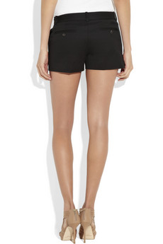 Broadcloth-cotton mini shorts by Michael Kors