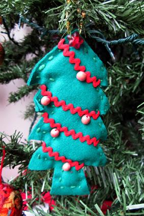 Colgante de fieltro para navidad