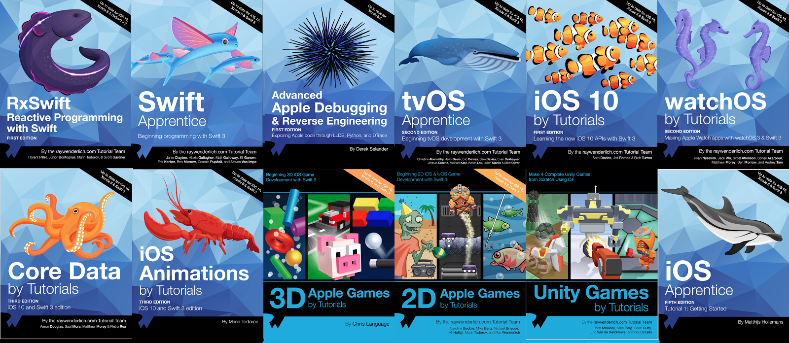 All books Learn IOS by Ray Wenderlich Swift 4 And Xcode 9