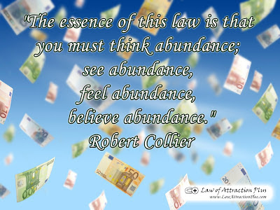 Free Law of Attraction Wallpaper with Quote by Robert Collier about Abundance
