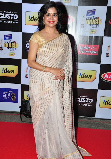 Sunitha in Cream Embellished Saree