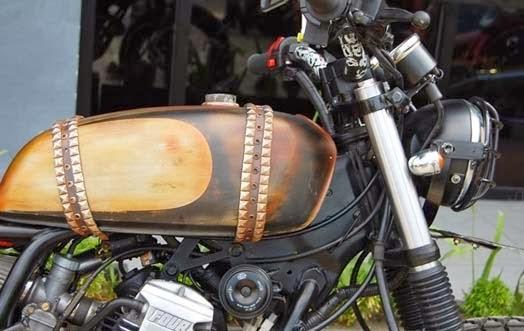 Tahap awal pengerjaan Modifikasi Yamaha Scorpio ini adalah pada bagian  title=
