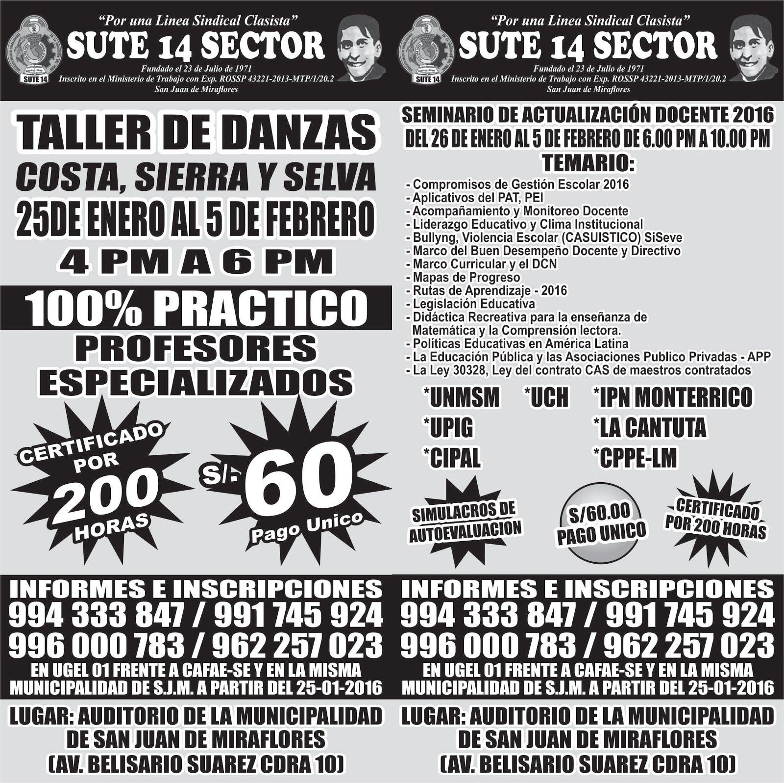 SEMINARIO DE ACTUALIZACIÓN DOCENTE Y TALLER DE DANZAS 2016