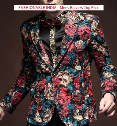 vintage floral blazer velvet for fashionable men India