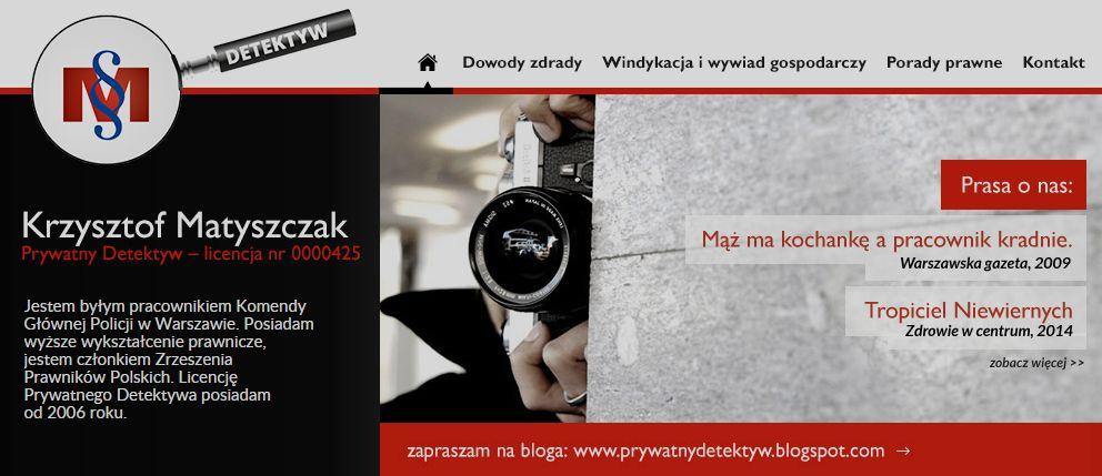 Detektyw Warszawa - licencja od 2006r