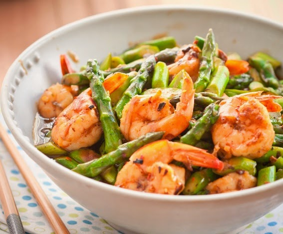 "How to cook ""fried shrimp with asparagus"
