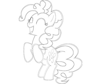 #14 Pinkie Pie Coloring Page