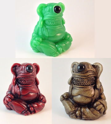 Meat Buddha Resin Figure by Motorbot - Jade, Red and Gold