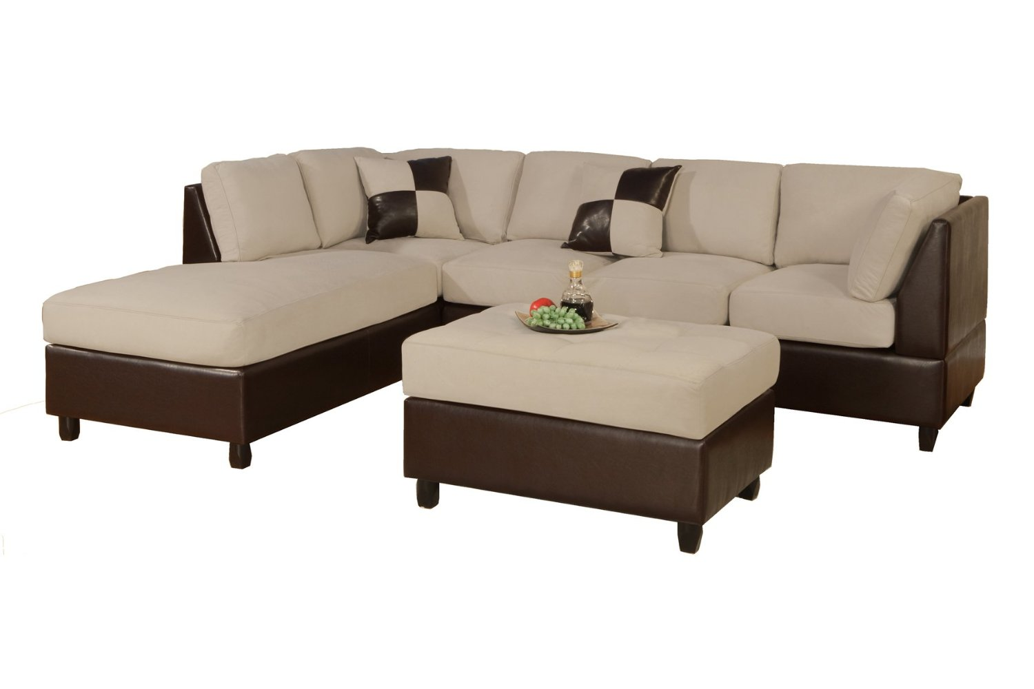 Brown Cheap Modern Sectional Sofas
