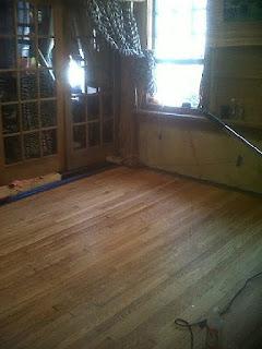 Wood Floor Refinishing Before
