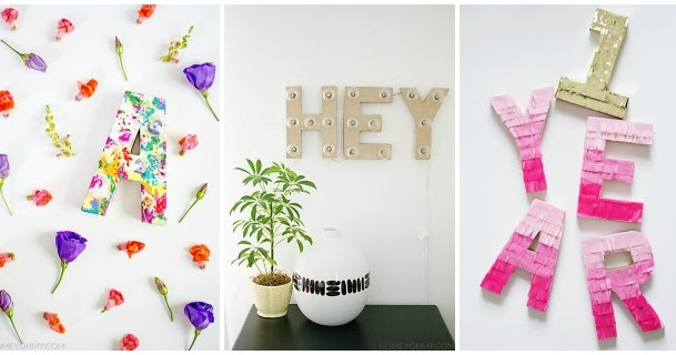 Decoracion Letras Carton ~ Decoraci?n F?cil 3 DIY con letras de cart?n