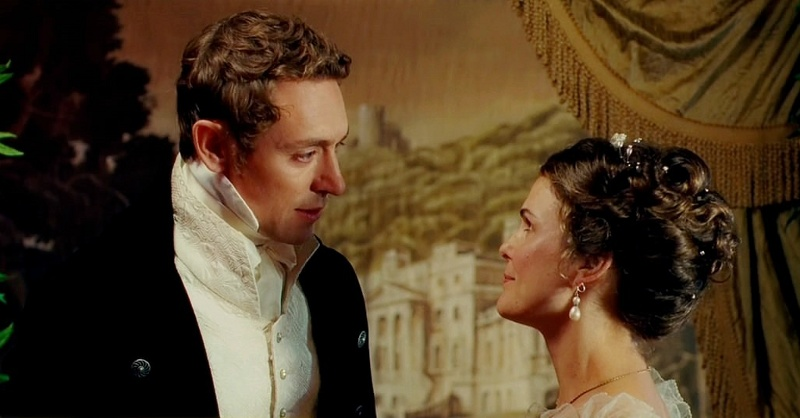 JJ Feild and Keri Russell in Austenland