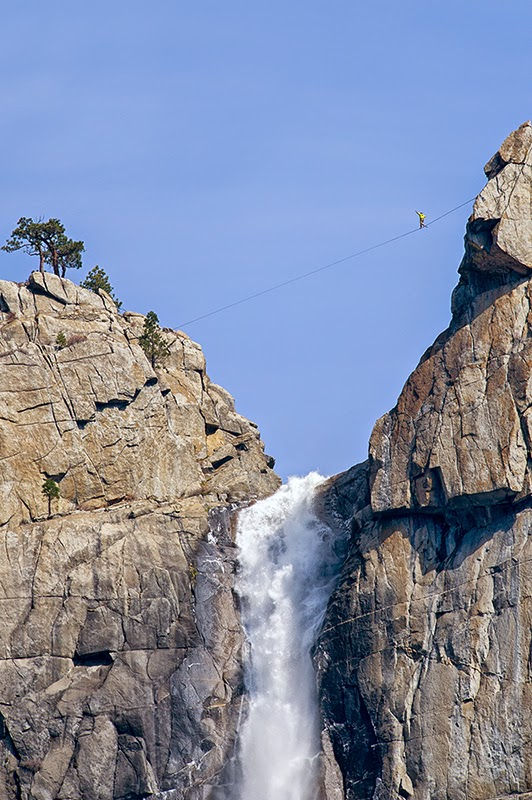 High Wire Walker at Upper Yosemite Falls