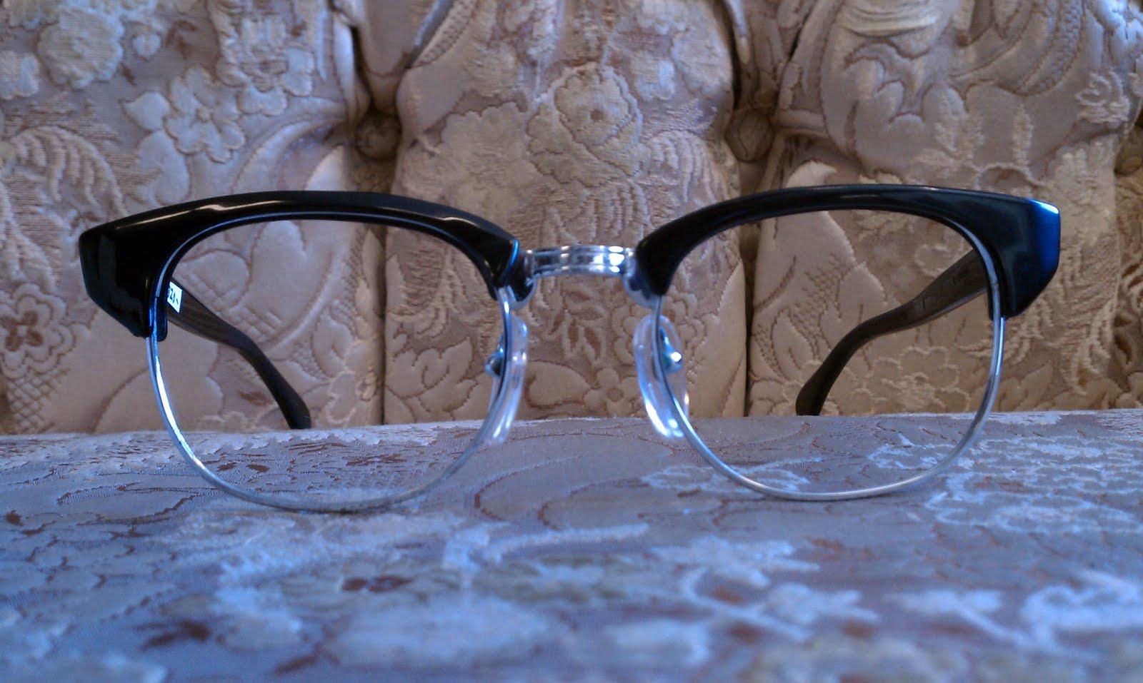 Eyeglass Frame Repair Long Beach Ca : Gentlemens Breakfast: Vintage Browline Frames: