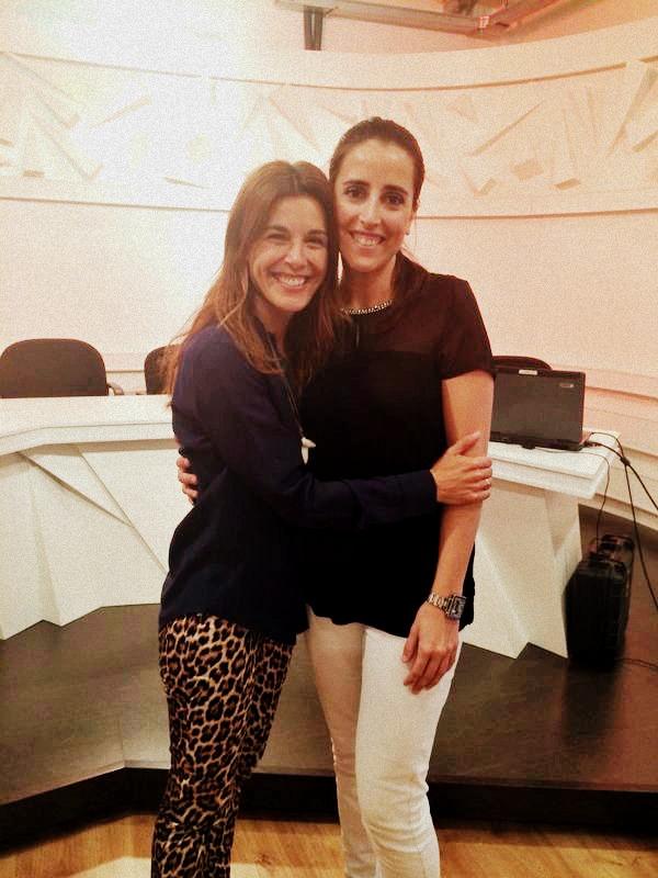 Con Raquel Sanchez Silva