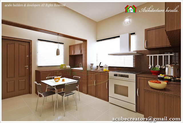 Modular kitchen interior design architecture kerala for New kitchen designs in kerala