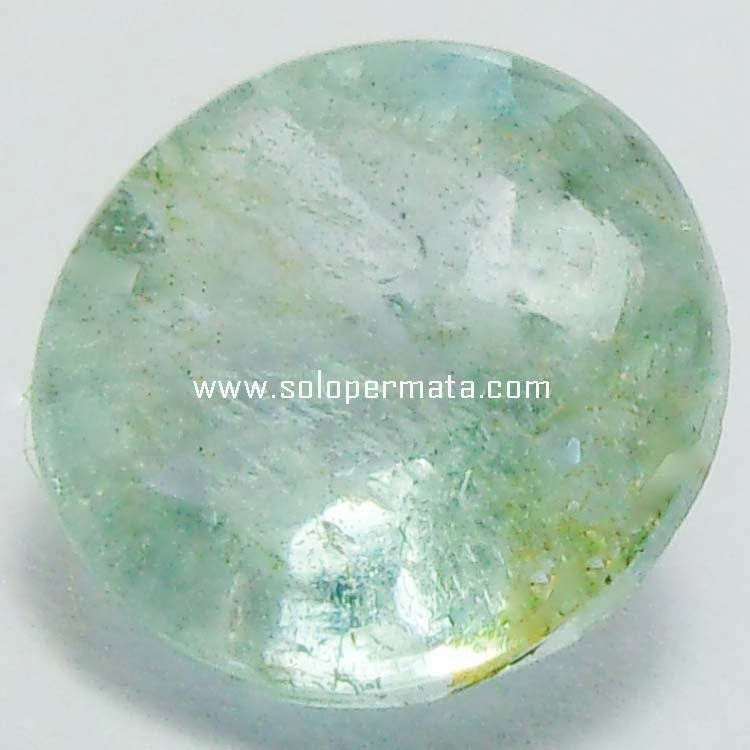 Batu Permata Greenish Blue Beryl Aquamarine - 08B06