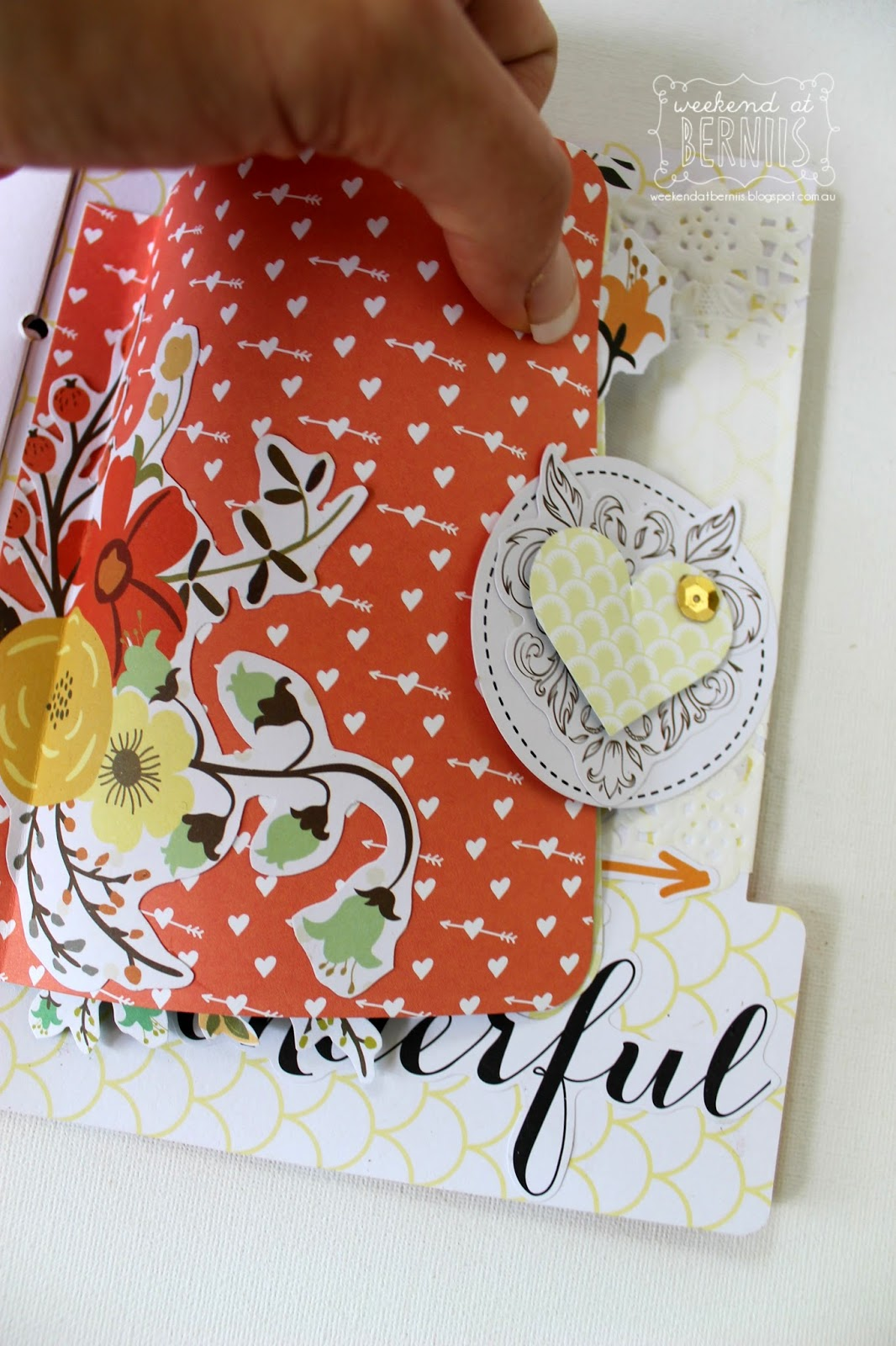 Our LIfe mini album by Bernii Miller using Teresa Collins Nine & Co collection.