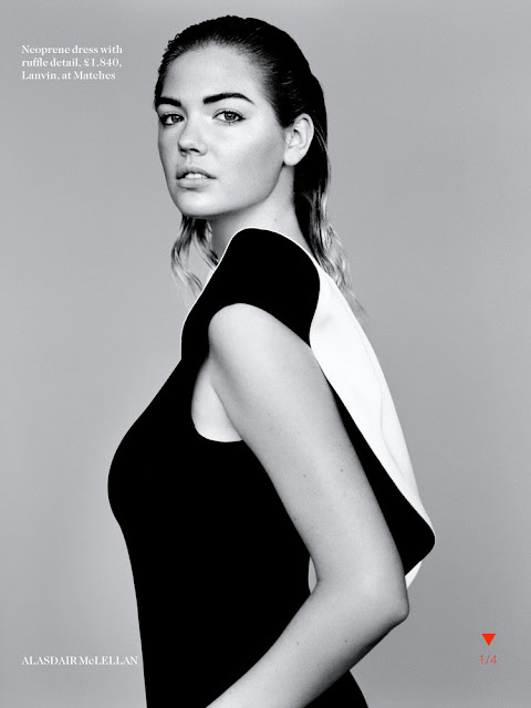 Kate Upton by Alasdair McLellan for Vogue UK, January 2013