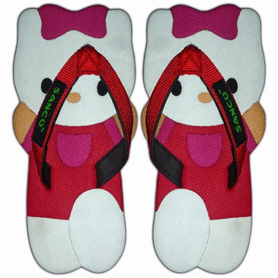 Motif Sandal Sancu Kiti Merah