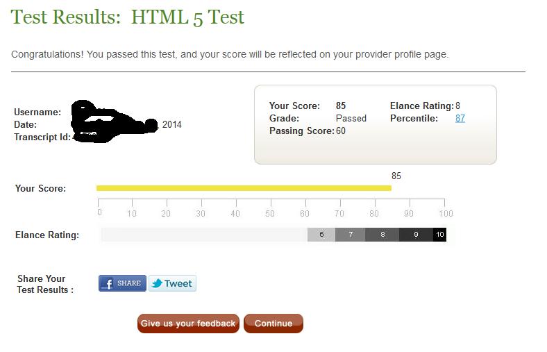 Elance html5 test answers