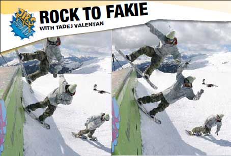How to Snowboarding  Trick : Rock to fakie