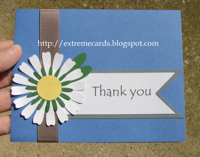 Extreme Cards and PapercraftingDaisy Thank You Card