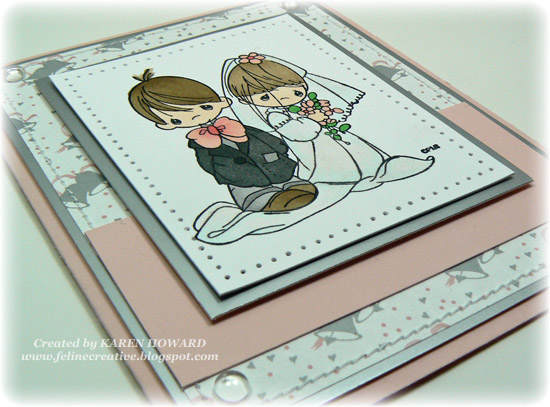 My card base is Sweet Blush layered with Glossy Silver cardstock and