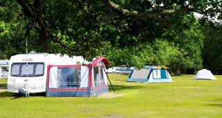 Typical camp site scene in the New Forest