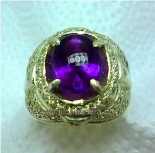 batu permata kecubung ungu kalimantan-batu mulia-natural-asli-murah
