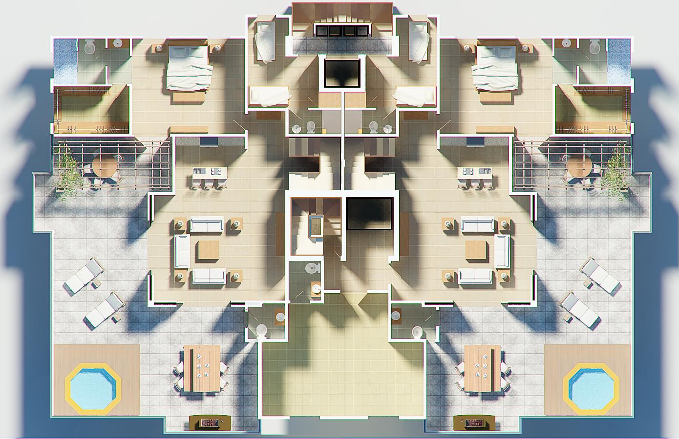 Stargate investment srl torre de apartamentos don mario for Distribucion apartamento 50 m2