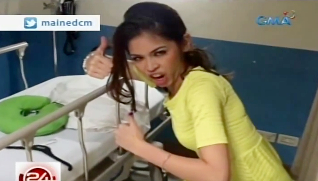 Maine Mendoza in the hospital after she passed out last Saturday