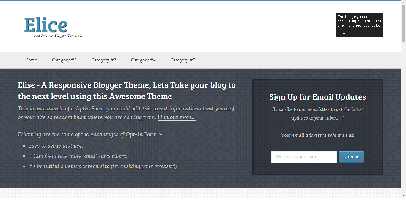 Elice Blogger Template Full Free Download