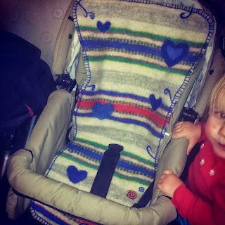 Sittdyna barnvagn ull