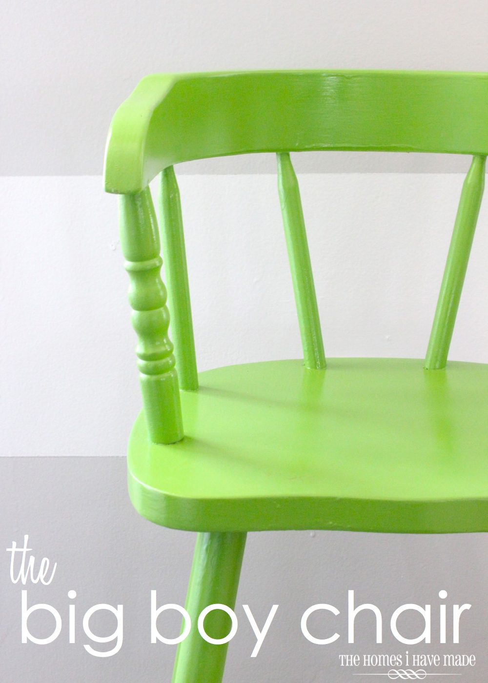 This chair has a little story that goes something like this our little guy was content as can be in his baby high chair u2013 you know the big one with the ... & The Big Boy Chair (and my spray painting choices!) | The Homes I ...