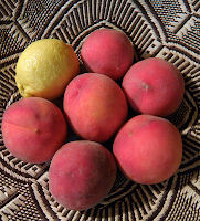Basket of Peaches and Lemon