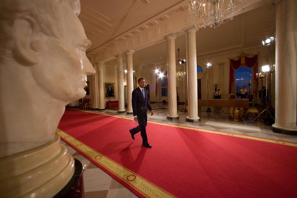 White House Press Conference Room Decor