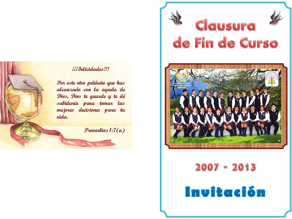 de Clausura de Fin de Curso para Primaria | Colegio Fray Juan de