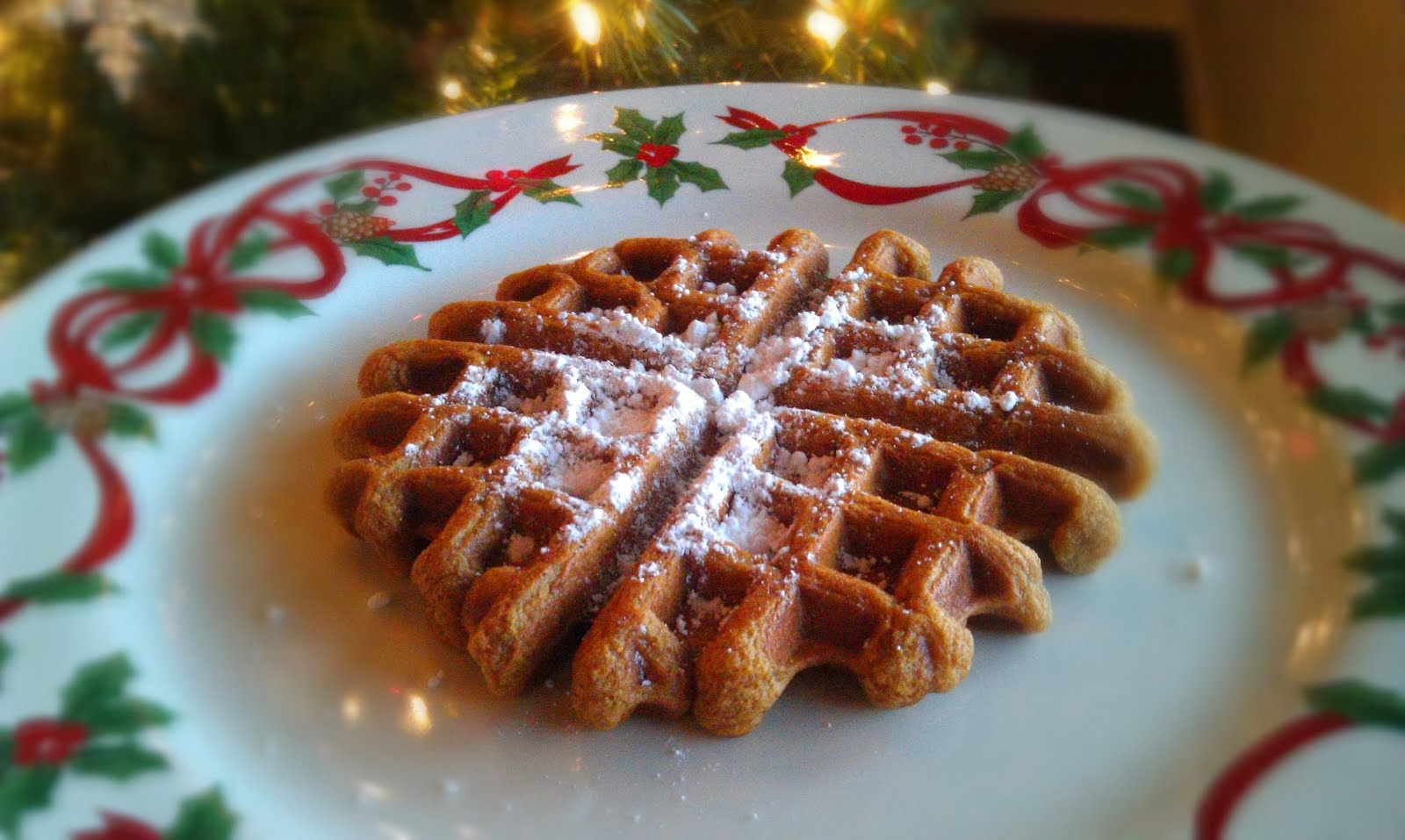 Egg Free Gingerbread Waffles