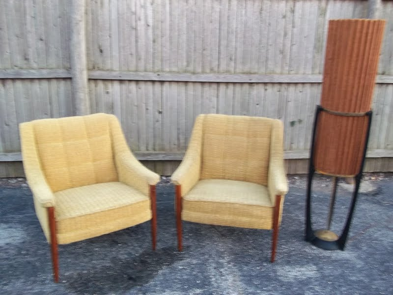 A pair of matching mid century dux style lounge chairs for Matching lounge furniture
